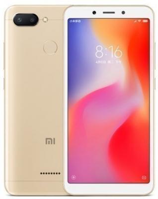 Смартфон Xiaomi Redmi 6 32 Гб золотистый (Redmi6GLD32GB) смартфон xiaomi redmi 6 32 гб золотистый redmi6gld32gb