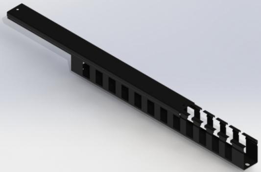 Кабельный органайзер 19, черный горизонтальный 1U, с крышкой, NT CO-H.СМ B кабельный органайзер estap e44org1ub 19 1u 5 колец черный