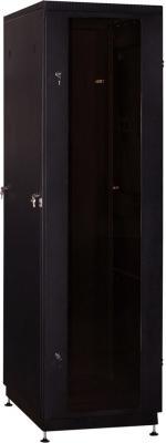 """Шкаф 19"""" напольный 22U 600x800, дверь со стеклом, чёрный, 3ч, NT PRACTIC 2 MG22-68 B"""