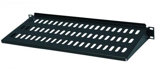 """Полка 19"""" консольная, чёрная L=300 мм, перфорированная, 2U, NT SC300 B цена и фото"""
