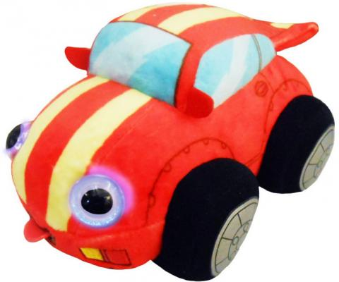 Мягкая игрушка машинка 1toy Дразнюка-Биби. Гоночная машинка текстиль пластик плюш наполнитель 15 см 1toy мягкая игрушка fifa 2018 1toy волк забивака 28 см