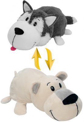 Купить Мягкая игрушка Вывернушка 40 см 2в1 Хаски-Полярный медведь, 1toy, разноцветный, искусственный мех, текстиль, Животные