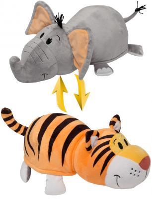 Мягкая игрушка Вывернушка 40 см 2в1 Тигр-Слон плюшевая игрушка вывернушка слон тигр 35см