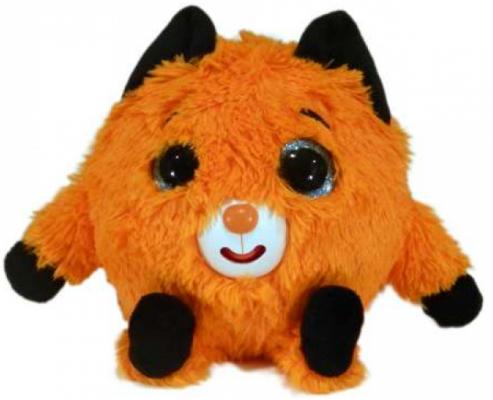 Мягкая игрушка животные 1toy Лисичка плюш наполнитель пластик черный 13 см