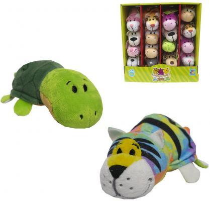 Мягкая игрушка Вывернушка 12 см 2в1 Тигр-Черепаха мягкие игрушки 1toy вывернушка тигр черепаха