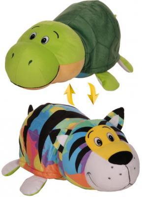 Купить Мягкая игрушка Вывернушка 40 см 2в1 Тигр-Черепаха, 1toy, разноцветный, искусственный мех, текстиль, Животные