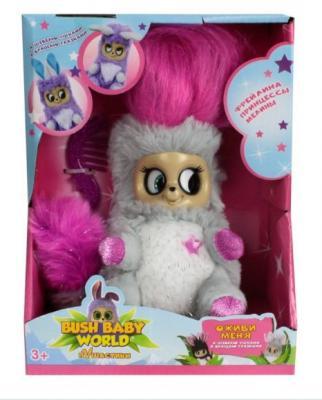Купить Интерактивная мягкая игрушка Фрейлина Леди Лулу 14 см, Bush Baby, белый, розовый, серый, искусственный мех, пластик, текстиль, Интерактивные мягкие игрушки