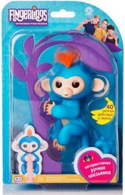 цена Интерактивная обезьянка Борис синяя 12см