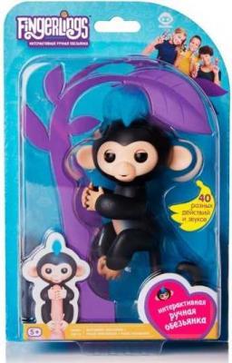 Интерактивная игрушка обезьянка Fingerlings обезьянка Финн черный 12 см 3701A интерактивная игрушка обезьянка wowwee fingerlings финн пластик черный 12 см 3701a
