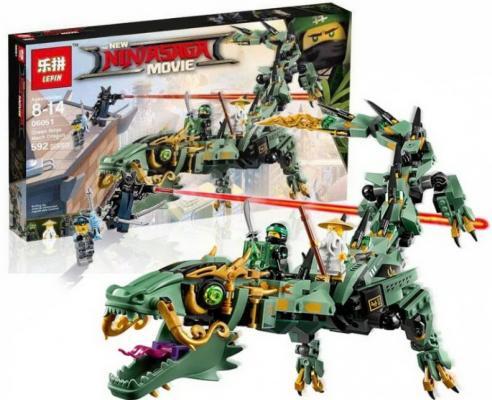 Конструктор LEGO Механический Дракон Зелёного Ниндзя 544 элемента lego lego ninjago 70612 лего ниндзяго механический дракон зелёного ниндзя