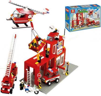 Конструктор SLUBAN Пожарный центр 631 элемент