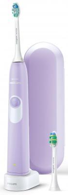 Зубная щетка электрическая Philips Sonicare 2 Series HX6212/88 сиреневый/белый электрическая зубная щетка philips easyclean hx6511