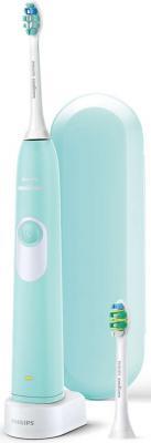 Зубная щетка электрическая Philips Sonicare 2 Series HX6212/90 бирюзовый/белый электрическая зубная щетка philips for kids hx6322 04
