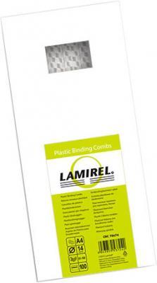 Lamirel Пружина пластиковая LA-7867401 (14 мм. Цвет: белый, 100 шт.) влажные салфетки fellowes lamirel la 1144001 100 шт