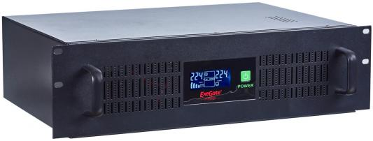 Exegate EP270874RUS ИБП Exegate Power RM Smart UNL-1500 LCD <1500VA, Black, 2U, 3 евророзетки, USB>