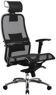 Кресло Samurai S-3.02 с 3D подголовником Черный кресло метта samurai s 1 black python edition черный сетка