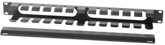 ЦМО Органайзер кабельный горизонтальный 19 1U с крышкой, цвет чёрный (ГКЗ-1U-9005) кабельный органайзер 19 чёрный горизонтальный 1u nt co h b