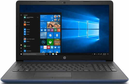 Ноутбук HP 15-da0077ur 15.6 1366x768 Intel Core i3-7020U 500 Gb 4Gb Intel HD Graphics 620 синий Windows 10 Home 4JY26EA ноутбук hp 15 bs158ur 15 6 1366x768 intel core i3 5005u 500 gb 4gb intel hd graphics 5500 серебристый dos 3xy59ea