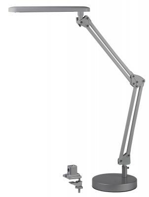 ЭРА Б0008001 Настольный светодиодный светильник NLED-440-7W-S серебристый {В комплекте 2 варианта крепления - устойчивое основание и струбцина, цвет. температура 3000К}