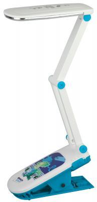"""ЭРА Б0016268 Настольный светодиодный светильник NLED-424-2.5W-BU синий, дизайн """"Фиксики""""{складной, аккумулятор, 2 режима яркости, цвет. температура 3000К} цена и фото"""