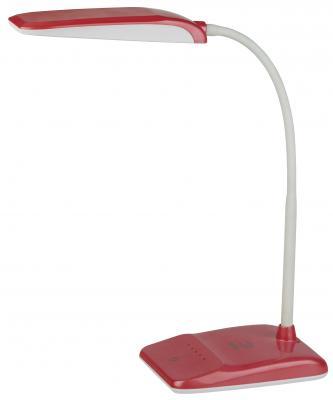 цена на ЭРА Б0017434 Настольный светодиодный светильник NLED-447-9W-R красный {USB-порт для зарядки устройств, диммер яркости, цвет. температура 3000/4500/6500К}