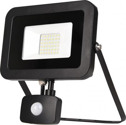 ЭРА Б0029436 Прожектор светодиодный LPR-50-6500К-М-SEN SMD Eco Slim {50W, 6500К, с датчиком движения} прожектор уличный эра lpr 30 2700к м sen smd 30вт с датчиком движения [б0028657]