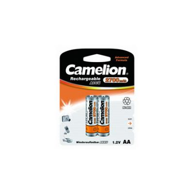 Camelion AA-2700mAh Ni-Mh BL-2 (NH-AA2700BP2, аккумулятор,1.2В) батарейки удлинители и переходники camelion аккумулятор nh aa2300arbp2