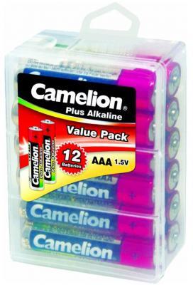 Батарейки Camelion Plus Alkaline AAA 12 шт LR03-PBH12 батарейки camelion plus alkaline aaa 24 шт pb 24
