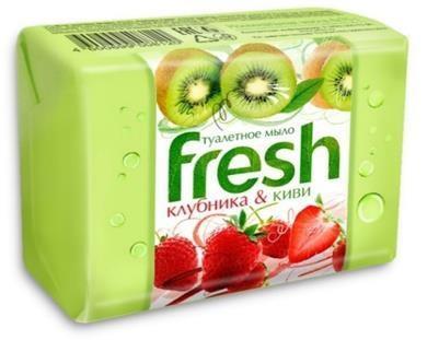 FRESH туалетное мыло клубника и киви 4*75г basilur чайный набор волшебные фрукты клубника и киви