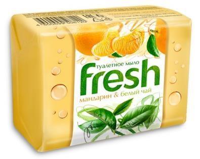 FRESH туалетное мыло мандарин и белый чай 4*75г