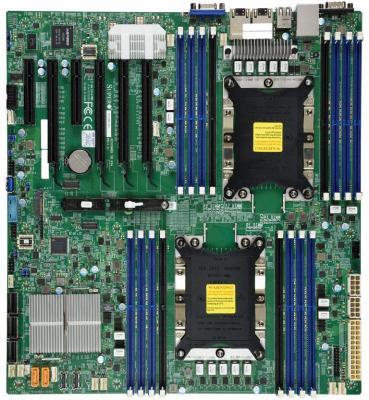 Материнская плата Supermicro MBD-X11DPI-N-O Socket 3647 C621 16xDDR4 4xPCI-E 16x 2xPCI-E 8x 14 EATX