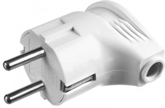 Вилка STAYER MAXElectro 55161-W электрическая, 16А/220В, угловая, с заземлением, белая