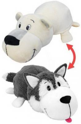 цена Мягкая игрушка Вывернушка 2в1 Хаски-Полярный медведь 12 см