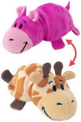 Мягкая игрушка Вывернушка 2в1 Жираф-Бегемот 12 см цена