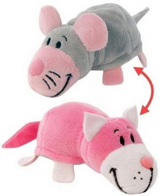 Купить Мягкая игрушка Вывернушка 2в1 Розовый кот-Мышь 12 см, 1toy, разноцветный, искусственный мех, текстиль, наполнитель, Животные