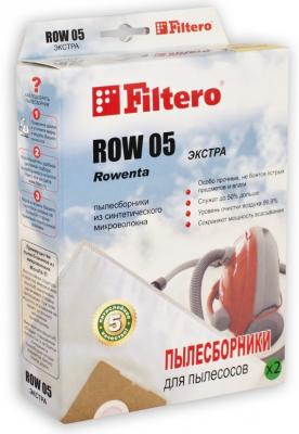 Мешок FILTERO ROW 05 ЭКСТРА для ROWENTA однораз. синт. 5слоев 2шт.