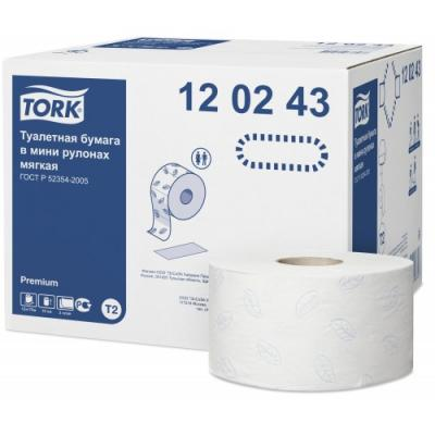 Купить Бумага TORK 120243 premium 2-сл бел o19 o6*10 170м 12 рул/уп