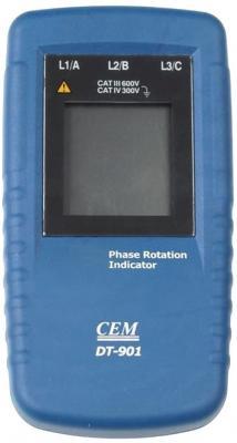 Индикатор порядка чередования фаз CEM DT-901 40В – 690В 1мА индикатор cem dt 2g