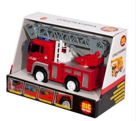 Инерционная машинка Big motors Пожарная 1:20 красный WY550B машинка big motors jl81016 красный