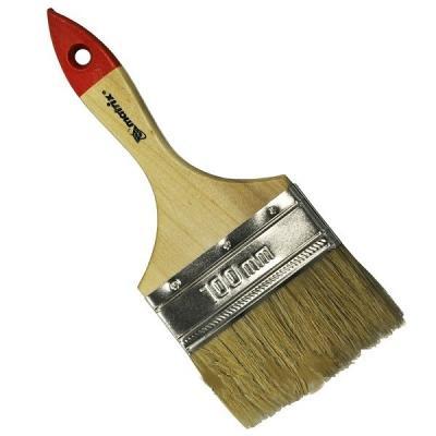 Кисть флейцевая MATRIX 82545 плоская стандарт 4 (100 мм) натур. щетина деревянная руч. кисть флейцевая matrix 83373 50х2мм