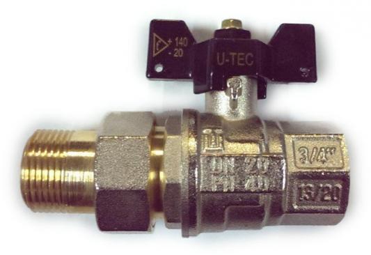 Кран шаровый U-TEC 35667 PROFESSIONAL с американкой ник. бабочка В-Н 3/4 бирка цена