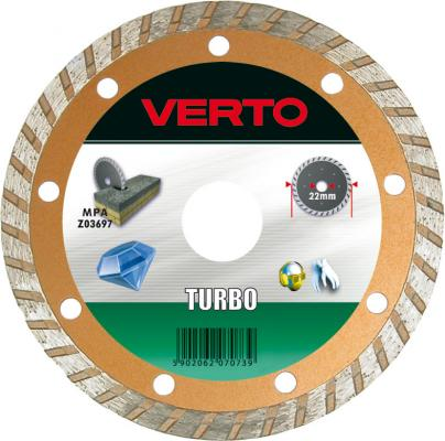 Круг алмазный VERTO 61H3P5 125x22.2мм turbo бур verto 60h628