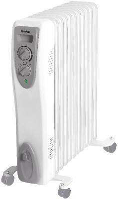 Масляный радиатор Ac electric AOH/M-2211 2200 Вт термостат колеса для перемещения ручка для переноски белый масляный радиатор vitek vt 1707 w 1000 вт термостат ручка для переноски колеса для перемещения белый