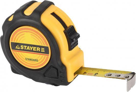 Рулетка STAYER 34025-10 STANDARD TopTape обрезиненный корпус, 10х25мм рулетка stayer 34025 02 standard toptape