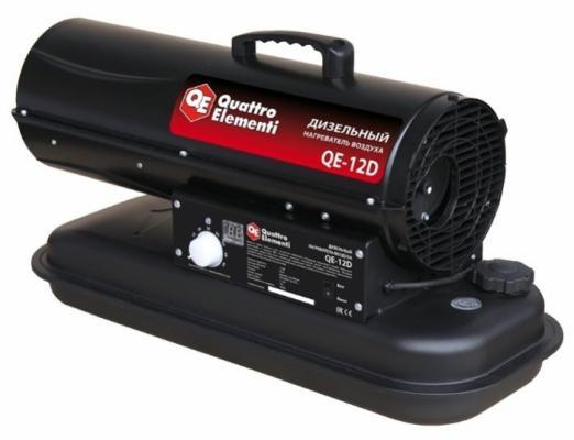 Тепловая пушка Quattro Elementi 243-899 QE- 12D 12000 Вт термостат дисплей Регулировка температуры Ручка для перемещения чёрный цена