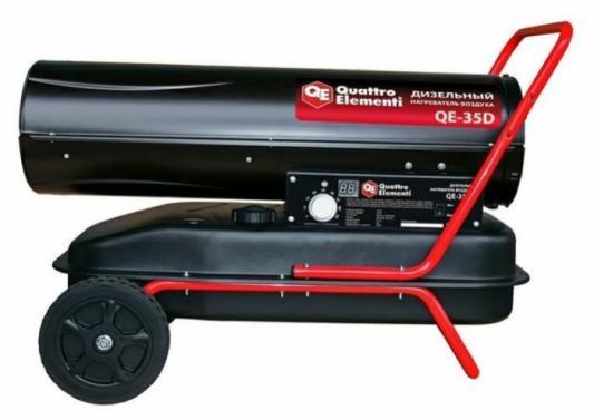 Тепловая пушка Quattro Elementi 243-912 QE- 35D 35000 колеса для перемещения термостат дисплей Регулировка температуры Ручка для перемещения чёрный цена