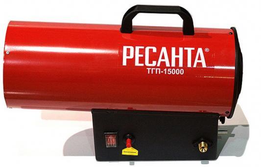 Тепловая пушка газовая Ресанта ТГП-15000 15000 Вт Ручка для перемещения красный ресанта тгп 30000 тепловая газовая пушка