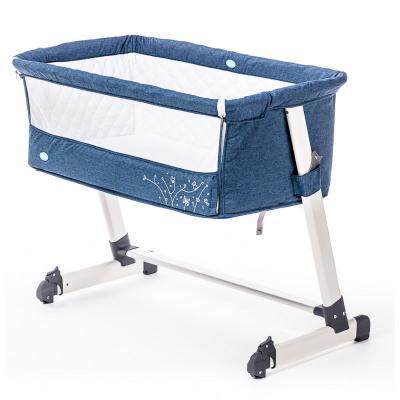 Приставная кроватка Nuovita Accanto (blu scuro lino) лестница алюминиевая приставная krause tribilo 121301