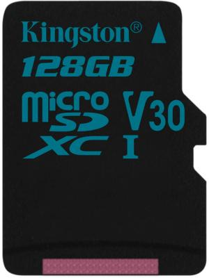 Карта памяти MicroSDXC 128GB Kingston Class UHS-I U3 V30 Canvas Go [SDCG2/128GBSP] карта памяти sdxc 128gb class 10 kingston sd10vg2 128gb
