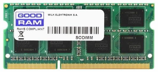 Оперативная память для ноутбука 2Gb (1x2Gb) PC3-10600 1333MHz DDR3 SO-DIMM CL9 Goodram GR1333S364L9/2G